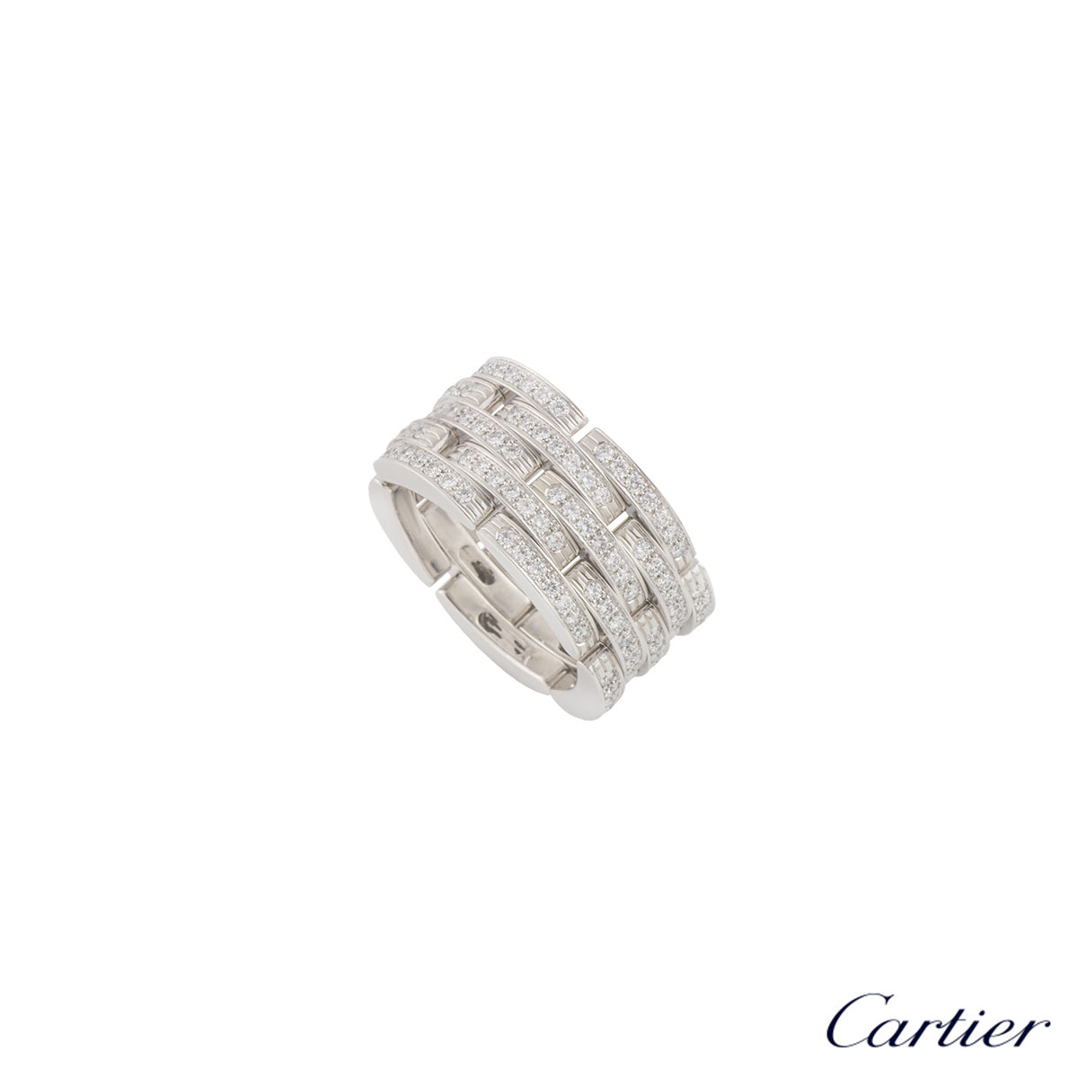 Cartier White Gold Diamond Maillon Panthere Ring
